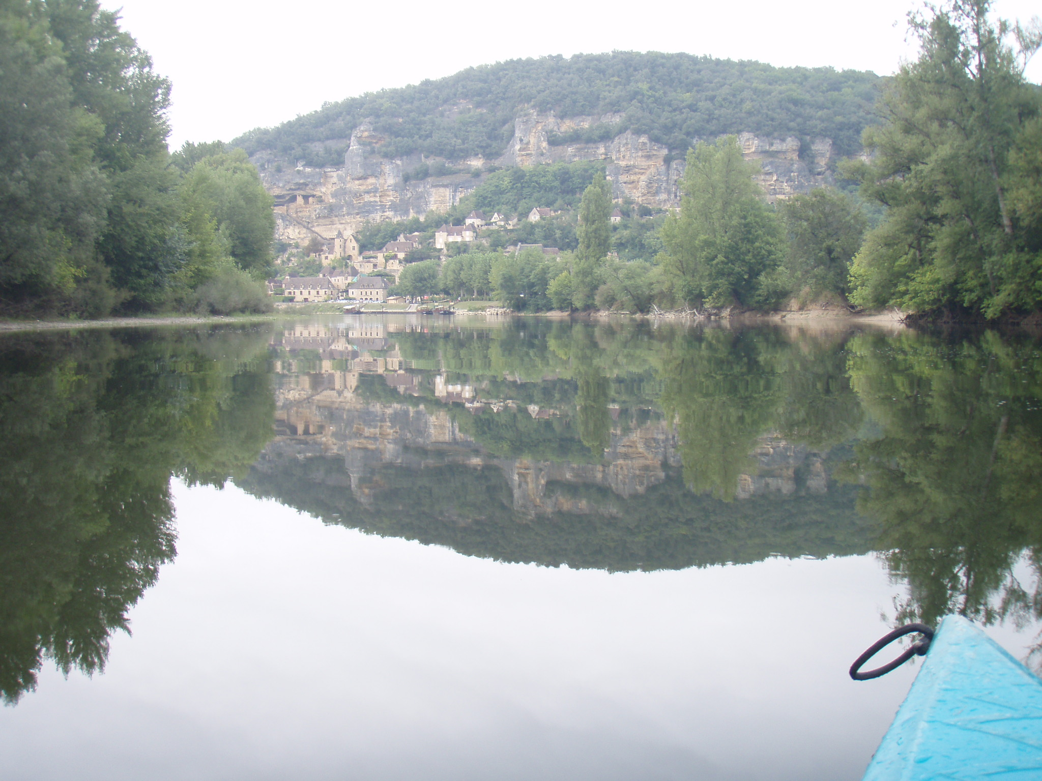 One trip was canoeing down the Dordogne River in France